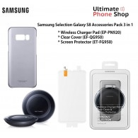 Samsung S8 Wireless Charger Pad, Clear Cover & Screen Protector 3 in 1 Kit (Brand New) V