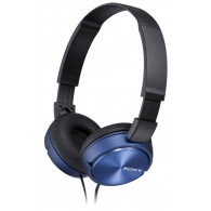 Sony MDR-ZX310AP Foldable On-Ear Headphones With 30mm- BLUE V