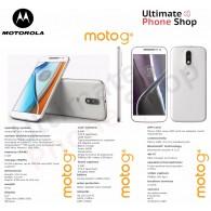 Motorola Moto G4 XT1622 16GB White UNLOCKED Dual Sim