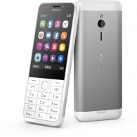 "Nokia 230 Single Sim Display 2.8"" - 2MP Selfie Camera - Silver"