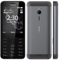 "Nokia 230 Single Sim Display 2.8"" - 2MP Selfie Camera - Dark Silver"
