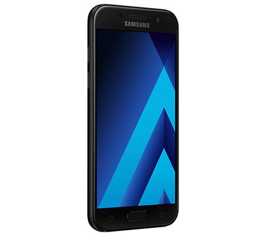 samsung galaxy a3 smartphone 2017 android 4 7 4g lte sim free 16gb black. Black Bedroom Furniture Sets. Home Design Ideas