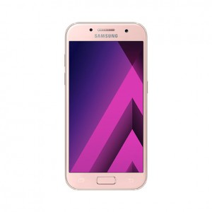 "Samsung Galaxy A3 Smartphone (2017), Android, 4.7"", 4G LTE, SIM Free, 16GB - Peach Pink"