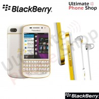 BlackBerry Q10 QWERTY SQN100-3 White/Gold Cyrillic Keypad
