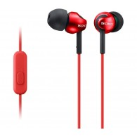 Sony MDR-EX110AP Deep Bass Earphones Earpods Handsfree Control and Mic (Red) V