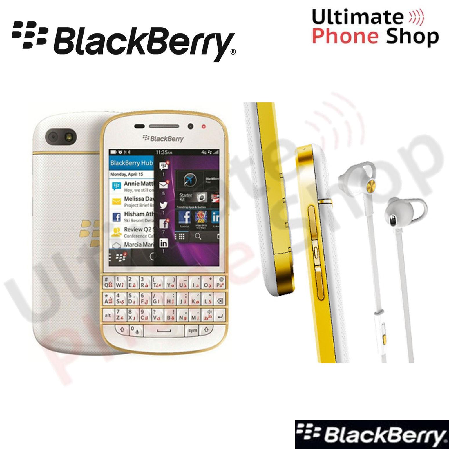 BlackBerry Q10 QWERTY SQN100-3 White/Gold Cyrillic Keypad